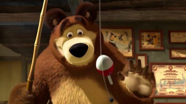 دانلود انیمیشن ماشا و آقا خرسه | ماجرای دوچرخه سواری آقا خرسه
