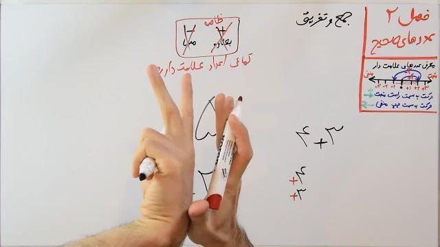 آموزش ریاضی پایه هفتم - فصل دوم- بخش دوم - جمع و تفریق عددهای صحیح