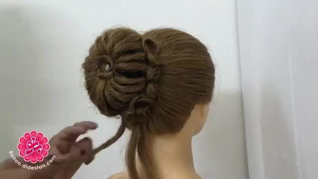 آموزش مدل شینیون - مو زنانه شیک و زیبا