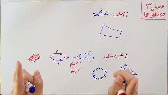 آموزش ریاضی پایه هشتم - فصل سوم- بخش اول- مرکز تقارن و شکل های منتظم