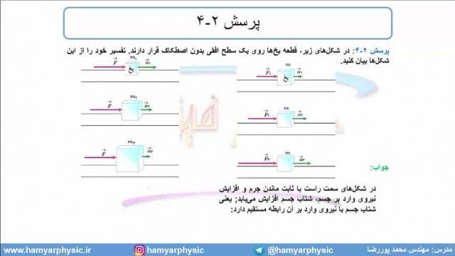 جلسه 66 فیزیک دوازدهم - قوانین حرکت نیوتون 3 - مدرس محمد پوررضا