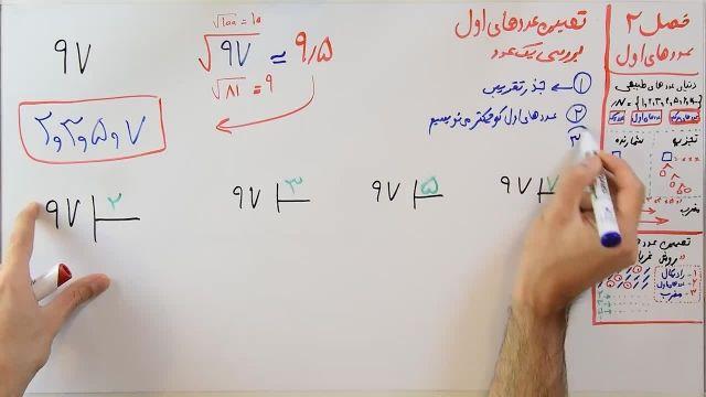 آموزش ریاضی پایه هشتم - فصل دوم- بخش چهارم -  بررسی اول یا مرکب بودن اعداد بزرگ