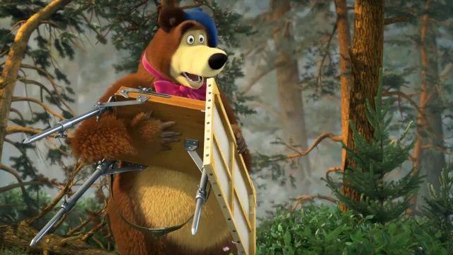 دانلود انیمیشن ماشا و آقا خرسه | ماجرای پیانو زدن ماشا