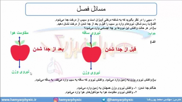 جلسه 69  فیزیک دوازدهم - قوانین حرکت نیوتون 6 - مدرس محمد پوررضا