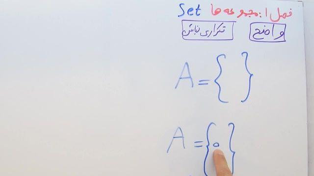 آموزش ریاضی پایه نهم- فصل اول- بخش اول- معرفی مجموعه ها و مجموعه تهی
