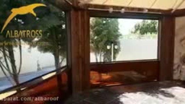 پروژه دیواره متحرک شیشه گیوتینی
