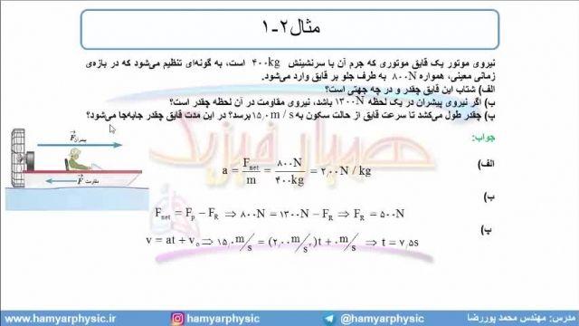 جلسه 67 فیزیک دوازدهم - قوانین حرکت نیوتون 4 - مدرس محمد پوررضا
