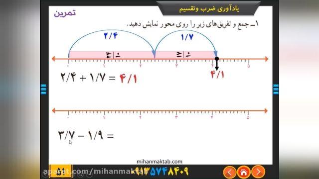 آموزش رایگان ریاضی پایه ششم - فصل 3- اعداد اعشاری ادامه درس دوم