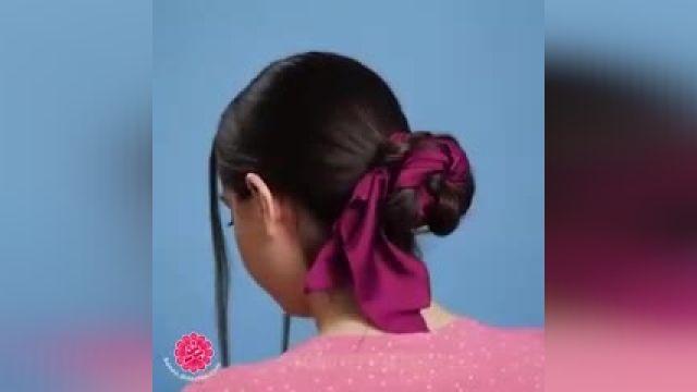 آموزش مدل شینیون - با روبان