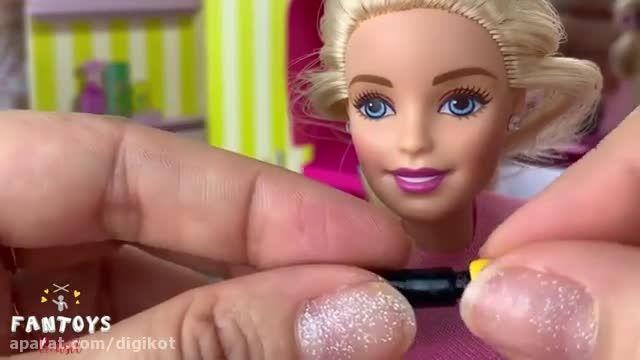 فیلم آموزش ایده های خلاقانه برای بازی با عروسک باربی - باربی در آرایشگاه