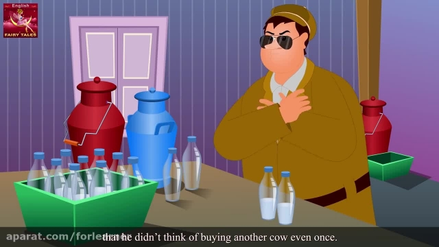 دانلود آموزش زبان انگلیسی به کودکان با کارتون -مرد شیرفروش طمعکار