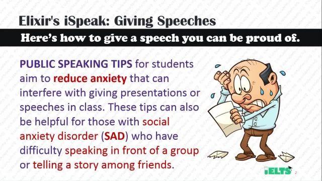 دانلود رایگان دوره کامل آموزش IELTS - اسپیکینگ - نحوه سخنرانی (Giving Speeches)