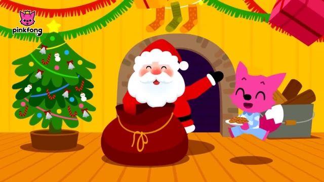 شعر های کودکانه - انگلیسی سانتا پایین می آورد