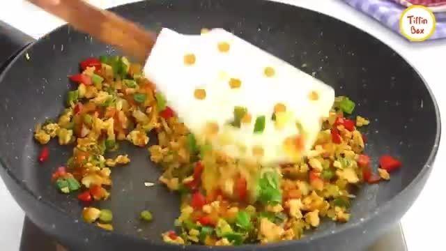 نکات کاربردی آشپزی - طرز تهیه رولت املت تخم مرغ برای صبحانه بچه ها