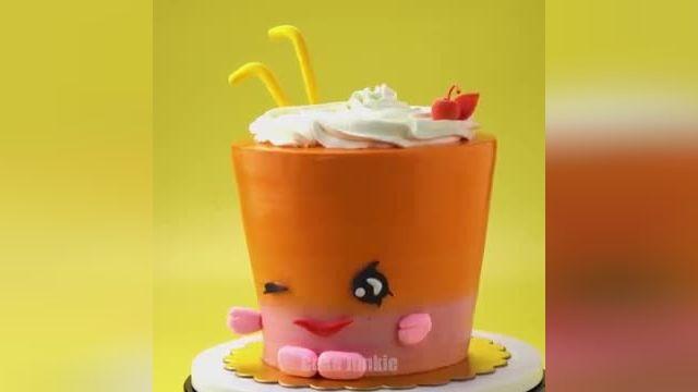 آموزش طرز تزیین کیک رنگین کمان در چند دقیقه