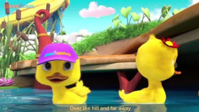 شعرو ترانه های کودکانه انگلیسی - پنج اردک کوچک
