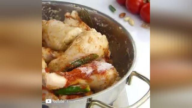 نکات کاربردی آشپزی - طرز تهیه خوراک مرغ بادامی یک غذای هندی