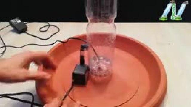 تکنیک های شگفت انگیز برای ساخت حوضچه آبشار با بطری پلاستیکی