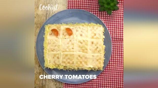 ترفندهای کاربردی آشپزی - طرز تهیه کیک ترد و خوشمزه با کراکر