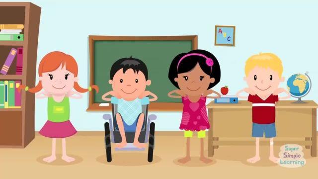 ترانه های کودکانه - انگلیسی زانو و انگشتان