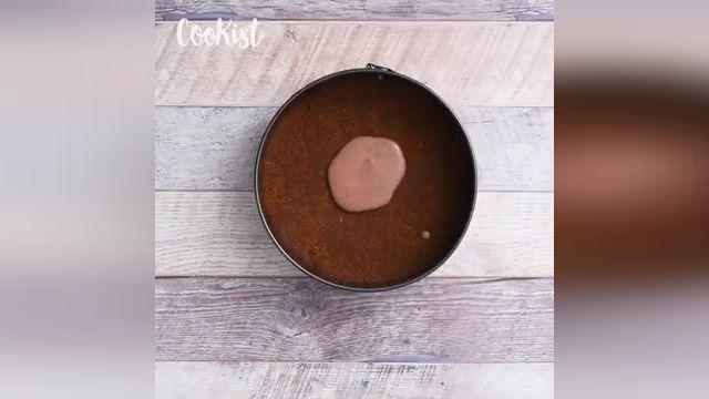 ترفندهای کاربردی آشپزی - طرز تهیه چیز کیک گورخری یک دسر زیبا و خوشمزه!