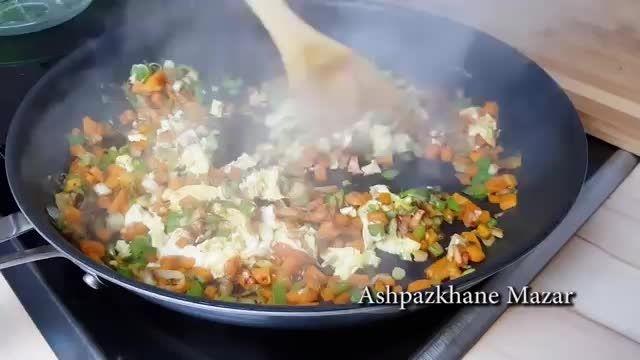 نکات کاربردی آشپزی - طرز تهیه برنج با مرغ تیکه شده در چند دقیقه