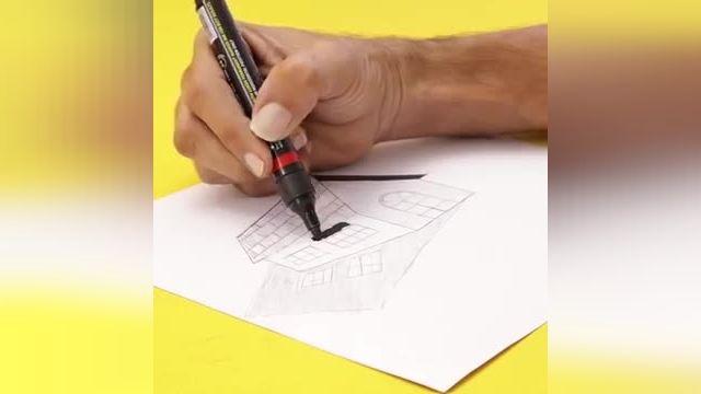 فیلم آموزش نقاشی سه بعدی با مداد - 7 ایده طراحی سه بعدی آسان در چند دقیقه