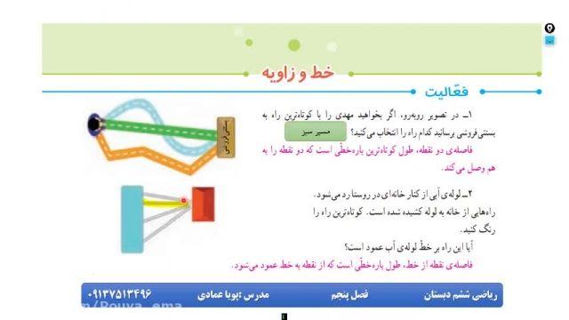 آموزش بخش5 ریاضی ششم(خط و زاویه)بخش اول