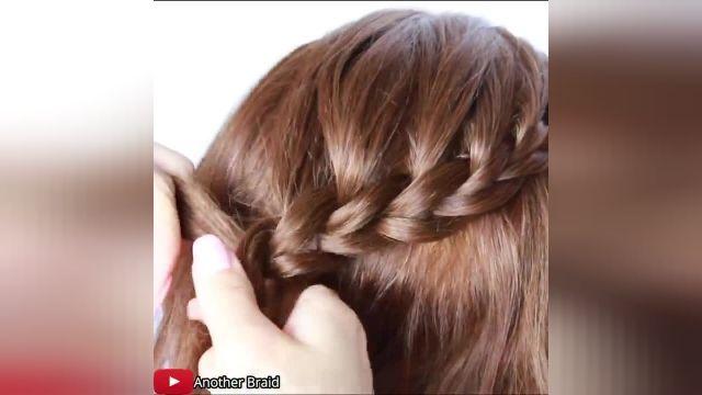 آموزش مدل جدید بافت مو -شینیون ساده برای موهای کوتاه