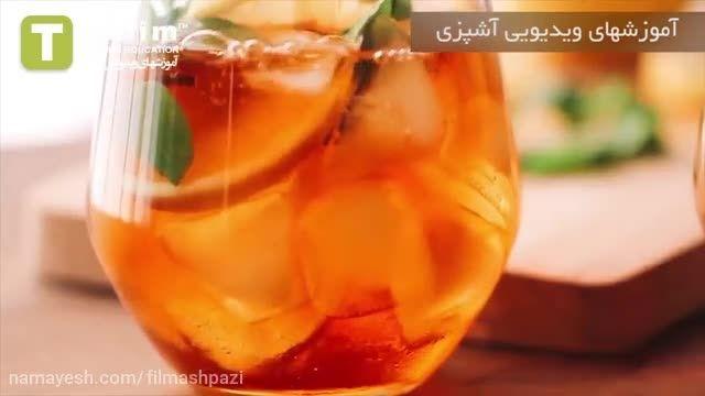 آموزش چای سرد لیمو و نعناع