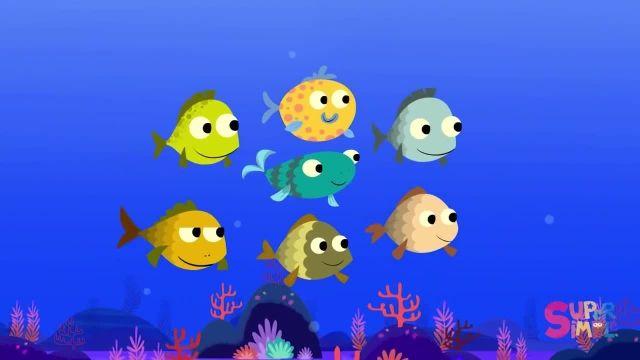 شعر های کودکانه - انگلیسی 10 ماهی کوچک