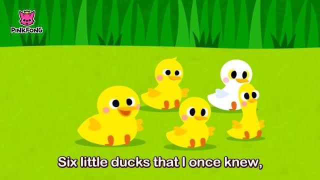 شعر های کودکانه - انگلیسی شش اردک کوچک2