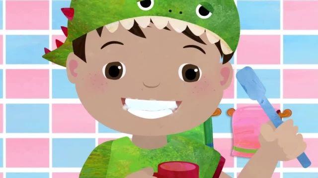 ترانه های کودکانه انگلیسی - مسواک زدن دندان ها