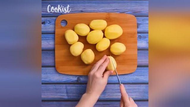 ترفندهای کاربردی آشپزی - طرز تهیه خوراک سیب زمینی با سیر و رزماری