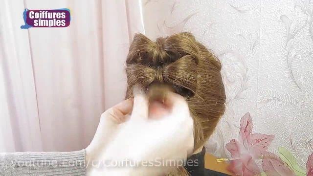 آموزش مدل جدید بافت مو -شینیون پاپیونی دخترانه