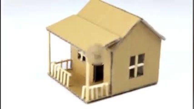 خلاقانه ترین روش برای ساخت خانه مقوایی