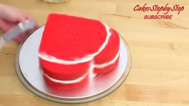 ترفندهای کاربردی آشپزی - طرز تهیه کیک قلب قرمز مخصوص ولنتاین در چند دقیقه