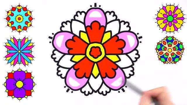 اموزش 6 مدل نقاشی گل به همراه رنگ امیزی