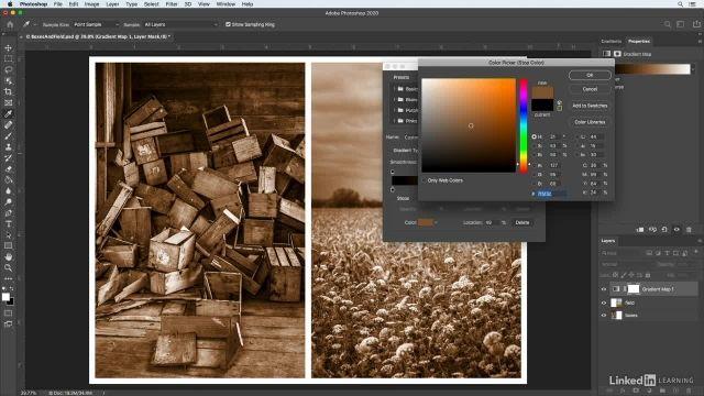 آموزش فتوشاپ برای عکاسان - ایجاد افکت تون شبیه به اتاق تاریک های قدیمی