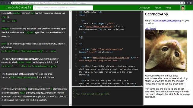 آموزش کامل مبانی  NEST - html5 کردن یک عنصر ANCHOR در پاراگراف