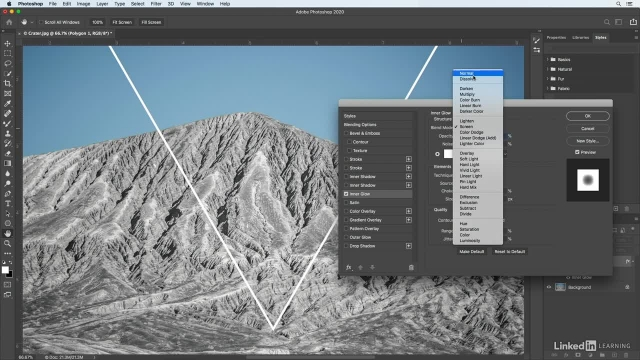 آموزش فتوشاپ برای عکاسان - اضافه کردن یک شکل با درخشش نئونی