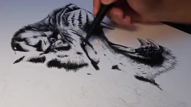 طراحی یک اثر هنری زیبا با قلم شگفت انگیز (Supreme)