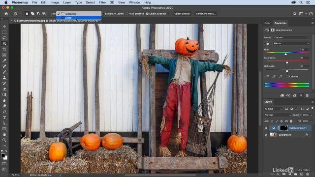 آموزش فتوشاپ - کار کردن با ابزار object select و quick select
