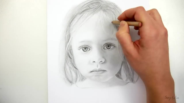 اموزش طراحی چهره سیاه قلم برای مبتدیان ( دختر بچه )