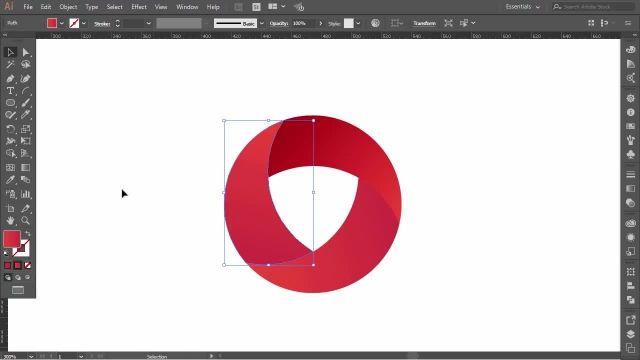 طراحی لوگو دایره ای با استفاده از نرم افزار (adobe illustrator)