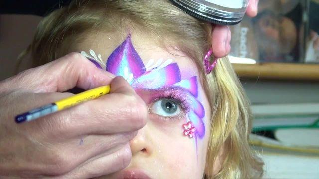 اموزش نقاشی روی صورت کودکان با تم ( پرنسس زیبا )