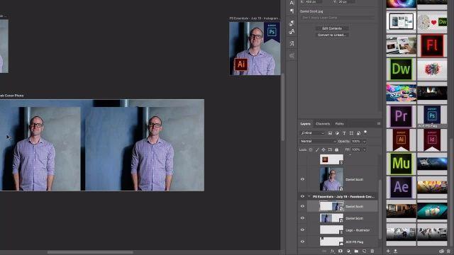 آموزش پیشرفته فتوشاپ - استفاده از  SMART OBJECTS و RELINKING IMAGES