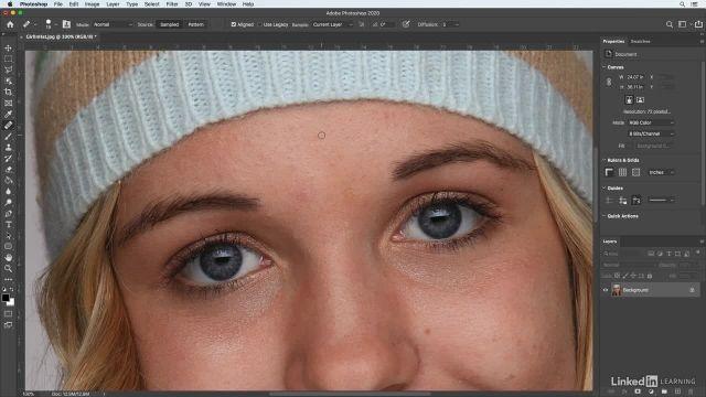 آموزش فتوشاپ برای عکاسان - تکنیک هایی برای سریع پاکسازی و صاف کردن پوست