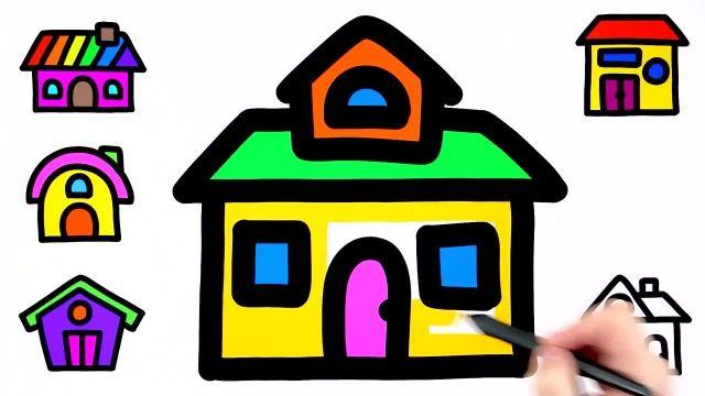 اموزش کشیدن خانه های رنگی به کودکان