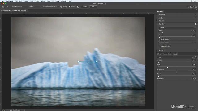آموزش فتوشاپ برای عکاسان - کدر سازی در امتداد یک خط به شکل خلاقانه